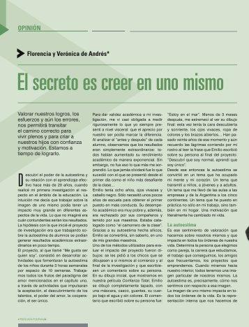 El secreto es creer en uno mismo - Confianza Total