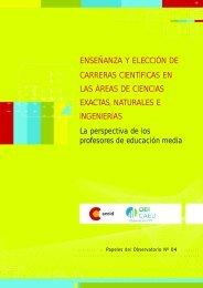 enseñanza y elección de carreras científicas en ... - Observatorio CTS