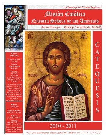 Boletin Septiembre 5 - Nuestra Señora de las Américas