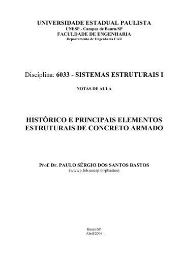 histórico e principais elementos estruturais de concreto ... - DEECC