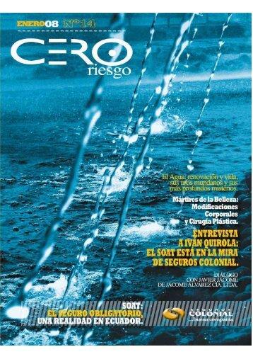 Revista Cero Riesgo Enero 2008 - QBE - Seguros Colonial