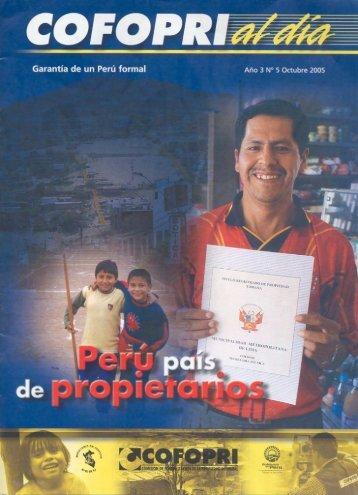 Perú, país de propietarios - Cofopri