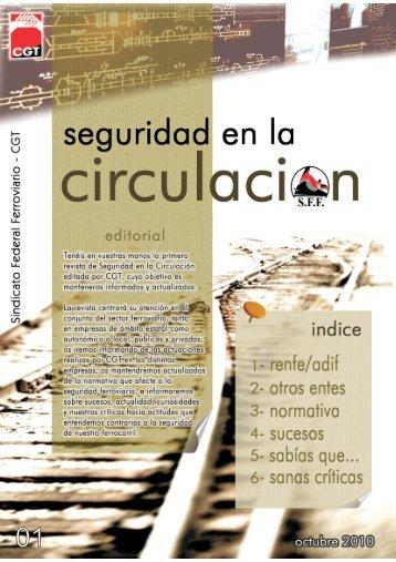 Revista SEGURIDAD EN LA CIRCULACIÓN - sector federal ...