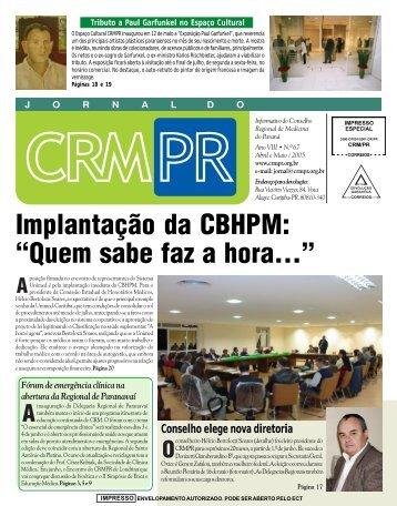 """Implantação da CBHPM: """"Quem sabe faz a hora..."""" - Conselho ..."""