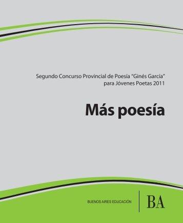 Más poesía - Dirección General de Cultura y Educación