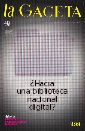 La Gaceta del FCE, núm. 499. Julio de 2012 - Fondo de Cultura ...