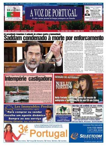 Saddam condenado à morte por enforcamento - A Voz de Portugal