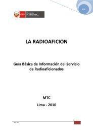 La Radioafición - Ministerio de Transportes y Comunicaciones