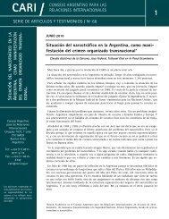 S A , . - Consejo Argentino para las Relaciones Internacionales (CARI)