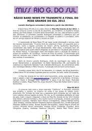RÁDIO BAND NEWS FM TRANSMITE A FINAL DO ... - Phosphoros