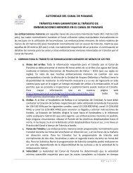 autoridad del canal de panamá trámites para garantizar el tránsito ...