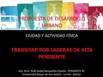 TRANSITAR POR LADERAS DE ALTA PENDIENTE ... - Walk21