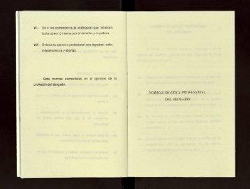 Normas de ética profesional del Abogado. - cdigital - Universidad ...