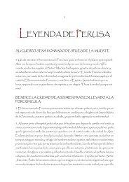LEYENDA DE PERUSA - Tercera Orden Regular