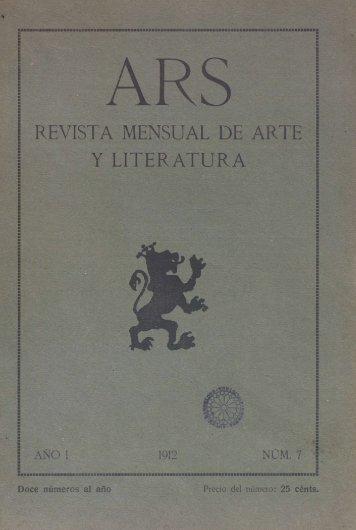 REVISTA MENSUAL DE ARTE Y LITERATURA