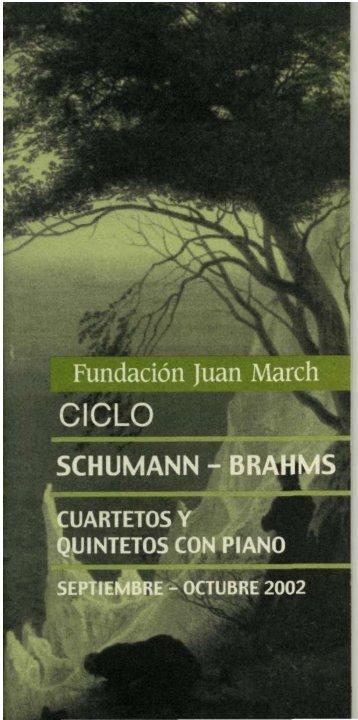 Programa en PDF - Fundación Juan March