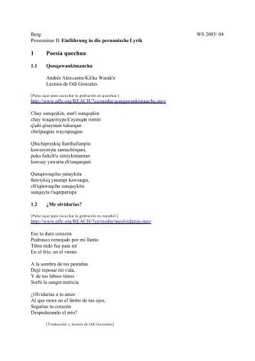 1 Poesía quechua