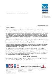 Customer letter english - Aluminal