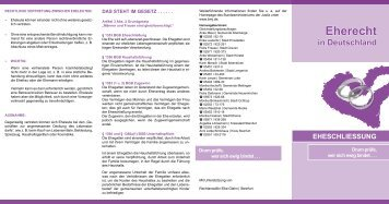 Informationen zum Eherecht - Stadt Greven