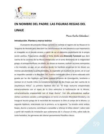 en nombre del padre: las figuras regias del linaje - Núcleo de ...