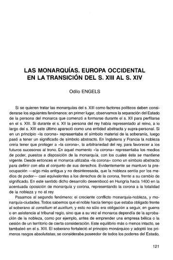 las monarquías. europa occidental en la transición del s. xiii ... - RUA