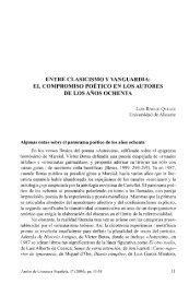 entre clasicismo y vanguardia - RUA - Universidad de Alicante