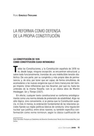 la reforma como defensa de la propia constitución - FAES