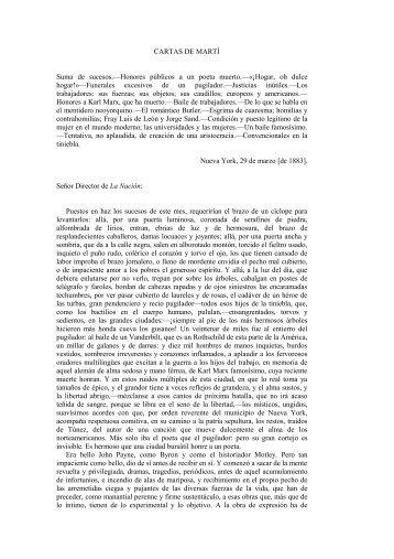 CARTAS DE MARTÍ ]. La Nación, Buenos Aires ... - Portal José Martí