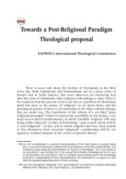 Towards a Post-Religional Paradigm Theological proposal