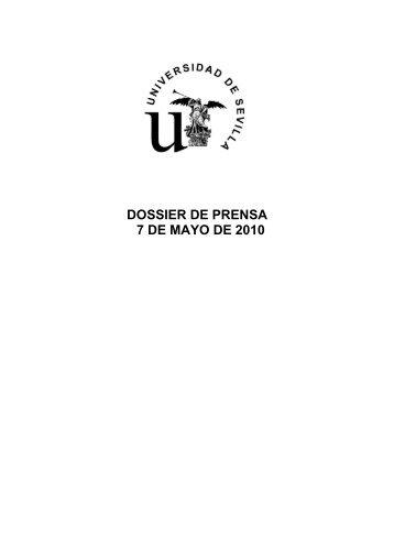 Dossier de prensa 7-mayo - Universidad de Sevilla