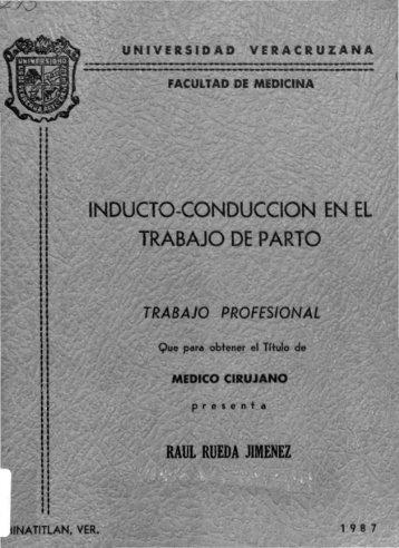 inducto-conduccion en el trabajo de parto - Universidad Veracruzana