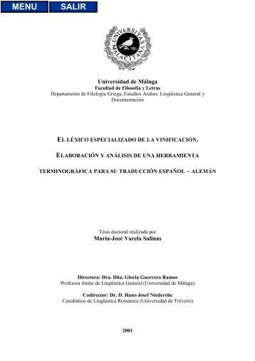Universidad de Málaga María-José Varela Salinas