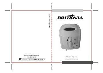 255 05 00 Rev1 Folheto de Instruções Fritadeira Mega ... - Britânia