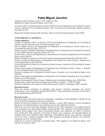 Pablo Miguel Jacovkis - Instituto Balseiro