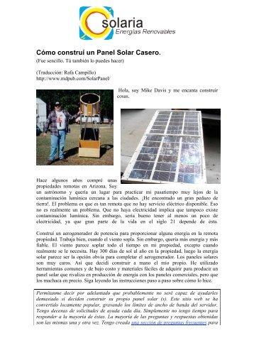 Cómo construí un Panel Solar Casero. - Eleklektiko