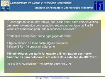 IFI - I Seminário Internacional de TIB - Ministério da Defesa..