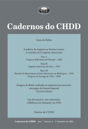 Cadernos do CHDD Nº 02 - Funag
