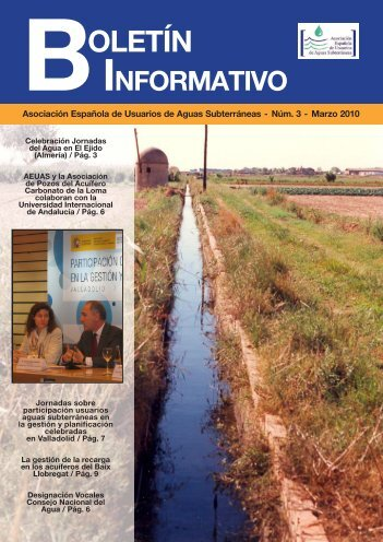 Boletín n° 3 - AEUAS - Asociación Española de Usuarios de Aguas ...