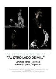 PROYECTO MÉXICO / ESPAÑA / ARGENTINA - Larumbe Danza