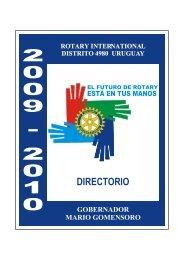 Directorio Distrital 2009 - 2010 - Rotary International Distrito 4980