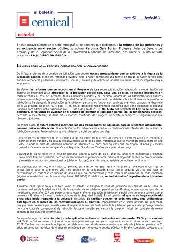 Núm. 42 (extraordinario reforma pensiones) - Junio 2011 - cemical