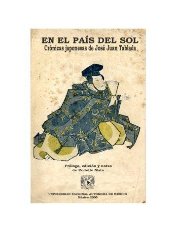 En el país del sol - José Juan Tablada - UNAM