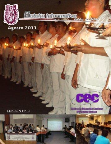 Boletín Agosto 2011 - Centro de Educación Continua Unidad ...