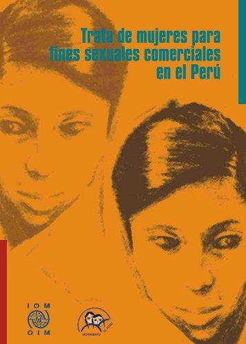 Trata de mujeres para fines sexuales comerciales en el Perú - OAS