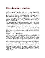 Mitos y leyendas en el ciclismo - ciclobr
