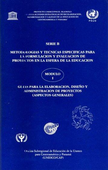Módulos autoformativos sobre formulación y ... - unesdoc - Unesco