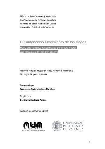 Del concepto a una poetica del riunet for Universidad de valencia master