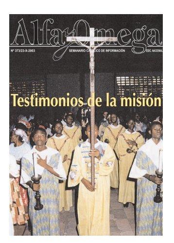 nº 373/23-x-2003 semanario católico de información ... - Alfa y Omega