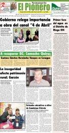"""Gobierno relega importancia a obra del canal """"4 de Abril"""""""