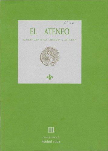 REVISTA CIENTÍFICA, LITERARIA Y ARTÍSTICA - Ateneo de Madrid